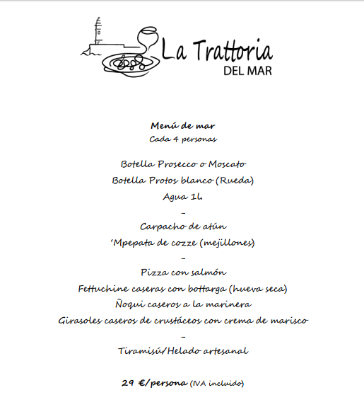 menus navidad almeria 2017 italiano pizzeria marisco
