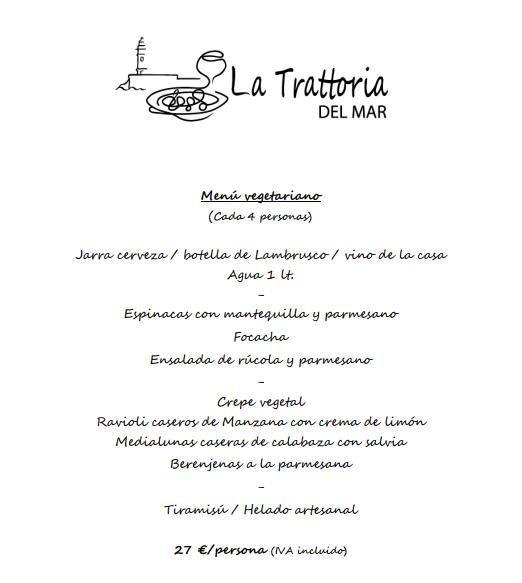 menus navidad almeria 2017 italiano pizzeria vegetariano